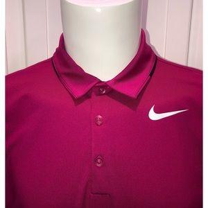 Nike Shirts - Nike Golf Dri Fit Polo Shirt Medium M Pink NWOT